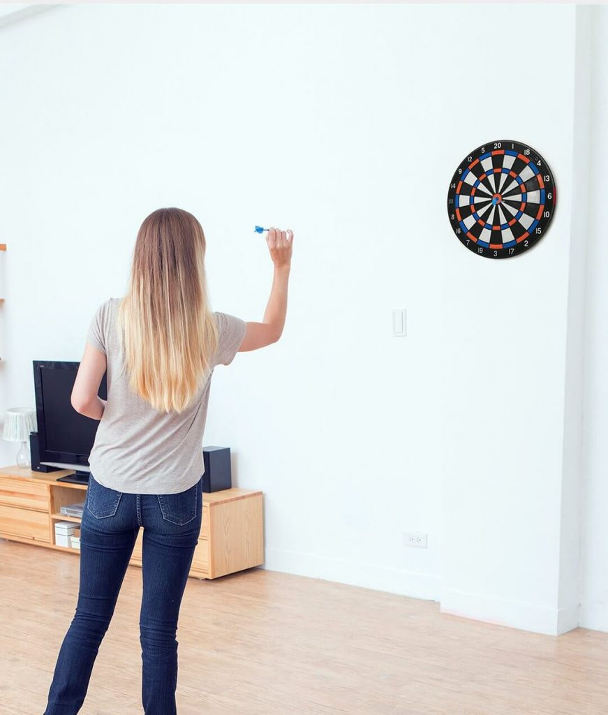 The stance when throwing darts