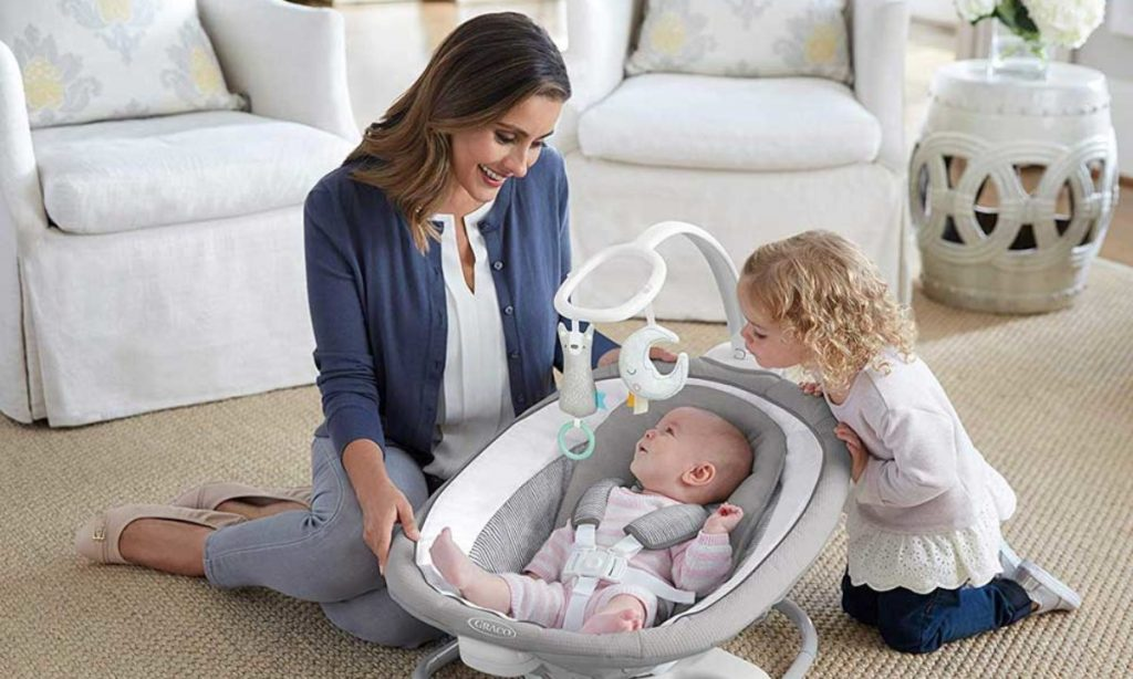 Switch off the baby swing when your kid is soothed